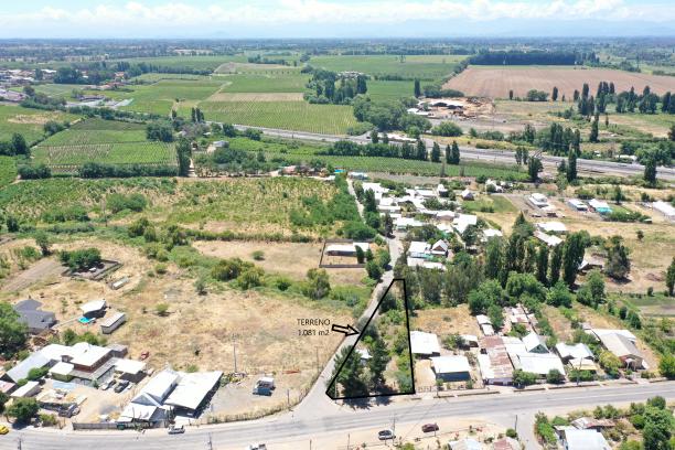 Se vende terreno Urbano 1.081 m2 en Pueblecillo, Maule